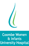 Coombe Women and Infants University Hospital logo and website